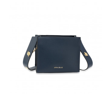 Kabelka Navy Anna Grace Fashion Tote Bag - modrá