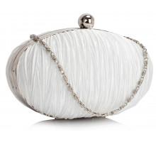 Psaníčko Ivory Ruched Satin Clutch