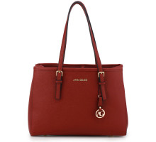 Kabelka Anna Grace Burgundy Women's Fashion Tote Bag - vínová