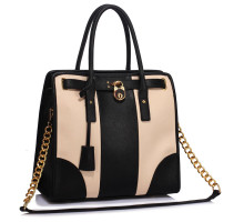 Kabelka Black / Nude Colour Block Tote Handbag