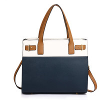 Kabelka Navy / White Tote Shoulder Handbag
