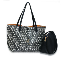 Oboustranná kabelka Black/Nude Large Tote Bag With Pouch