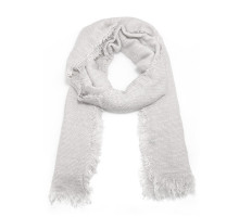 Šátek White Women's Texture Winter Scarf