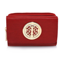Peněženka Burgundy Purse/Wallet with Metal Decoration