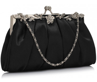 Psaníčko Black Crystal Evening Clutch Bag