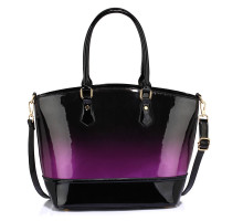 Kabelka Purple Patent Two Tone Handbag