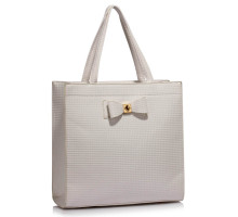 Kabelka White Bow Decoration Shoulder Bag - bílá