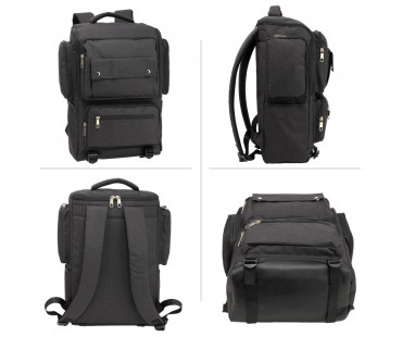 Batoh Black Backpack Rucksack School Bag - černý