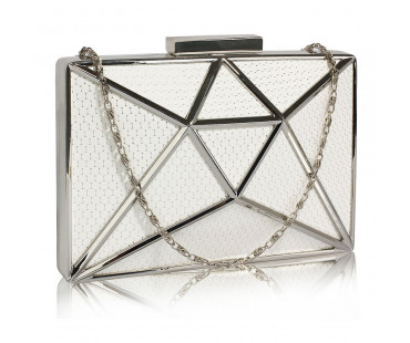 Psaníčko Ivory Metal Mesh Clutch Bag