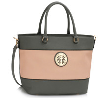 Kabelka Grey / Nude Shoulder Handbag