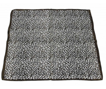 Šátek Brown Square Animal Print Womens Scarf