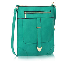Kabelka Teal Buckle Detail Crossbody Bag