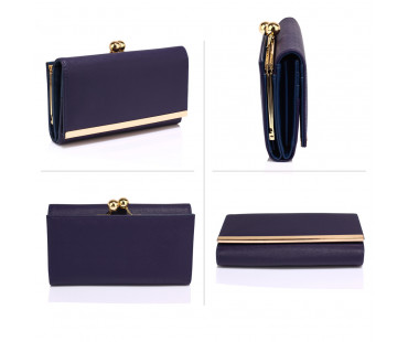 Peněženka Navy Kiss Lock Clutch Wallet / Purses