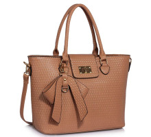 Kabelka Nude Grab Bag With Bow Charm