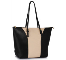 Kabelka Large Black / Nude Shoulder Handbag