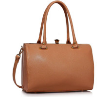 Kabelka Nude Structured Metal Frame Top Handbag
