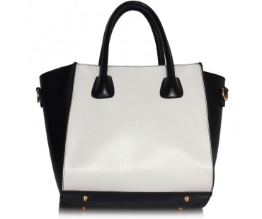 Kabelka Black /White Fashion Tote Bag