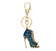 Přívěsek Gold Metal Shoe Rhinestone Bag Charm