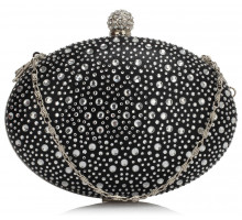 Psaníčko Black Diamante Design Evening Clutch Bag - černé