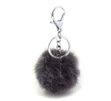 Přívěsky na kabelku Dark Grey Fluffy Fur Bag Charms