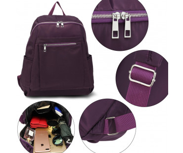 Batoh Purple Backpack School Bag - fialový