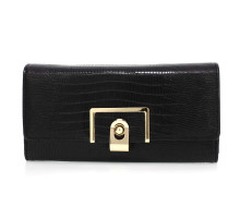 Peněženka Black Flap Purse With Gold Metal Work