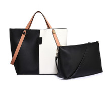 Kabelka Black / White Women's Tote Shoulder Bag