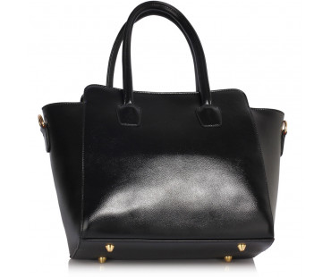 Kabelka Black Polished Metal Shoulder Handbag