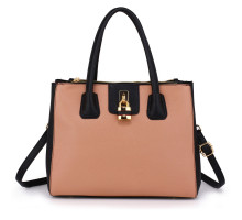 Kabelka Black / Nude Three Zipper Grab Bag