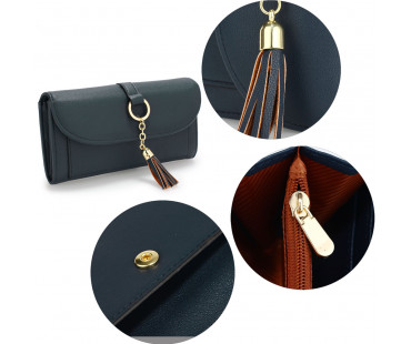 Peněženka Navy Flap Purse/Wallet With Tassel