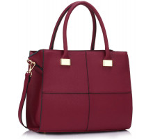 Kabelka Burgundy Fashion Tote Handbag