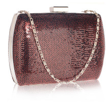Psaníčko Burgundy Sequin Clutch