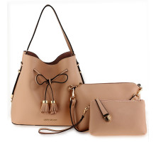 Kabelka 3 kusový set Set Nude Women's Fashion Handbags