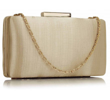Psaníčko Nude Satin Clutch Evening Bag