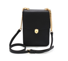 Kabelka Black Flap Twist Lock Cross Body Bag
