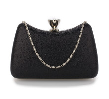 Psaníčko Black Hard Case Diamante Crystal Clutch Bag