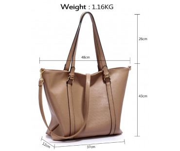 Kabelka Large Taupe Shoulder Handbag