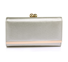 Peněženka Silver Kiss Lock Clutch Wallet / Purses