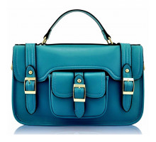 Aktovka Teal Classic Buckle Satchel With Long Strap