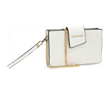 Kabelka White Cross Body Shoulder Bag With Wristlet