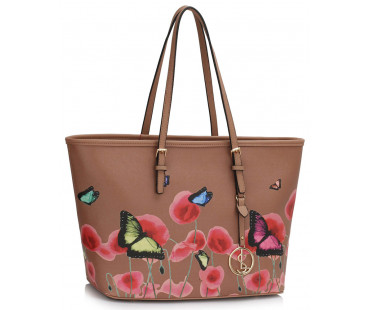 Kabelka Nude Large Butterfly Print Tote Bag