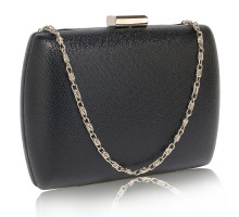 Psaníčko Black Hard Case Evening Bag