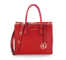 Kabelka Anna Grace Burgundy Grab Tote Handbag With Gold Metal Work