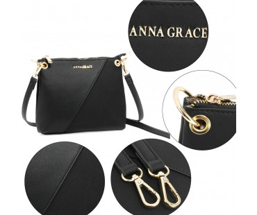 Kabelka Black Anna Grace Cross Body Shoulder Bag