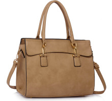 Kabelka Taupe Women's Tote Bag With Polished Hardware