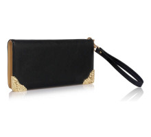 Peněženka Black Purse/Wallet with Metal Decoration