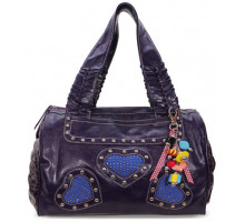 Kabelka Purple Diamante Heart Shoulder Handbag