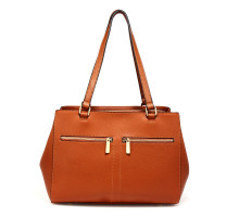 Kabelka Brown Women's Front Pockets Tote Bag - hnědá