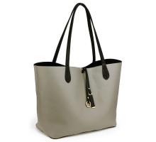 Oboustranná kabelka Black/Grey Large Tote Bag