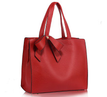 Kabelka L&S Fashion Red Bow-Tie Shoulder Tote Bag
